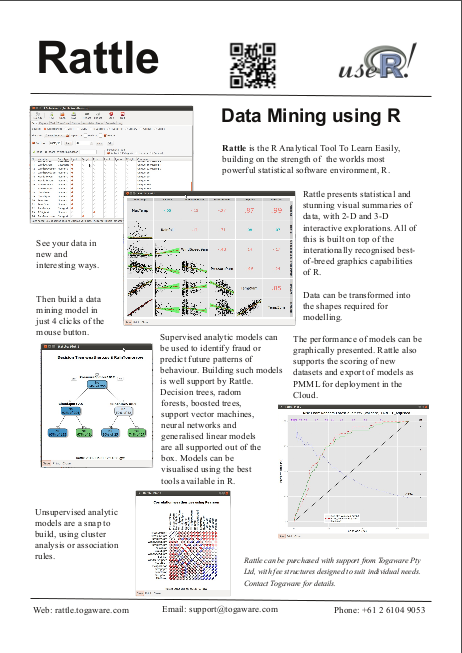 togaware rattle a graphical user interface for data mining using r